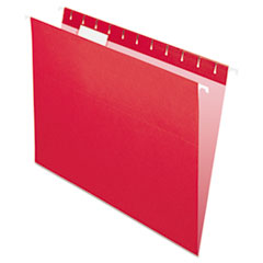 Pendaflex Hanging File Folders, 1/5 Tab, Letter, Red, 25/Box
