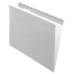 Pendaflex Hanging File Folders, 1/5 Tab, Letter, Gray, 25/Box