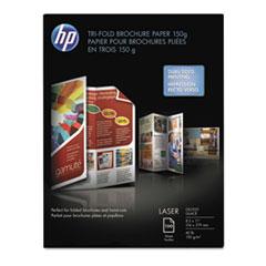 HP Tri-Fold Laser Brochure Paper, 97 Brightness, 40lb, 8-1/2 x 11, White, 150 /Pack