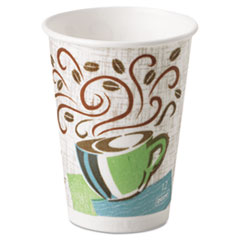 Dixie Hot Cups, Paper, 12oz, Coffee Dreams Design, 500/Carton
