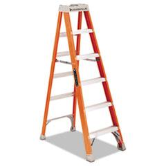 Louisville® LADDER 6' FIBERGLASS STEP FS1500 SERIES FIBERGLASS STEP LADDER FS1506, 300 LBS CAPACITY, 5 STEP, RED