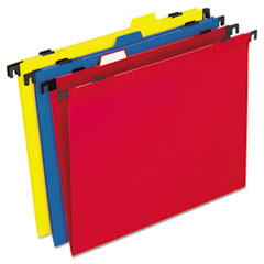 Pendaflex Two-in-One Colored Poly Folders with Built-In Tabs, Letter, Assorted, 10/Pack