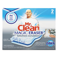 Mr. Clean Magic Eraser Kitchen Scrubber, 2/Box