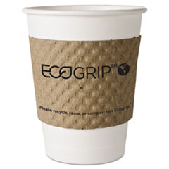 Eco-Products EcoGrip Recycled Content Hot Cup Sleeve, Kraft, 1300/Carton