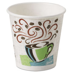Dixie Hot Cups, Paper, 10oz, Coffee Dreams Design, 500/Carton