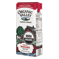 Organic Valley Whole Milk, 1 Liter. 12/Carton