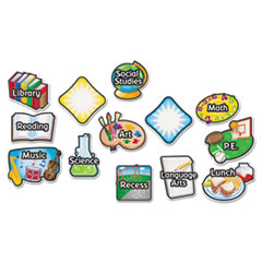 Learning Resources Magnetic Subject Labels, 4 x 6, 13/Set