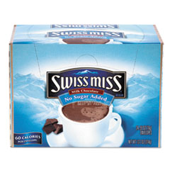 Swiss Miss 55584 Hot Cocoa Mix, No Sugar Added, 24 Packets/Box SWM55584 SWM 55584