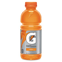 Gatorade Thirst Quencher, Orange, 20 oz Plastic Bottle, 24/Carton