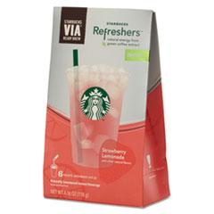 Starbucks VIA Refreshers, Strawberry Lemonade, .693oz Pack, 6 Each/Box