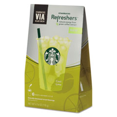 Starbucks VIA Refreshers, Cool Lime, .693oz Pack, 6 Each/Box