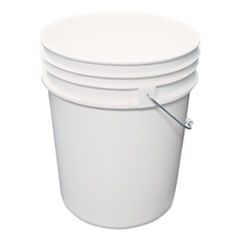 Impact Utility Bucket, Polyethylene, 5gal, White