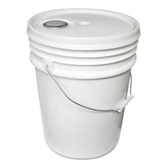 Impact Utility Bucket w/Lid, Polyethylene, 5gal, White