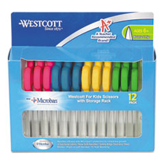 Westcott Kids Scissors with Microban Protection, Pack of 12, 5