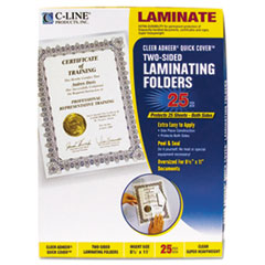 C-Line Quick Cover Laminating Folders, 12 mil, 9 1/8 x 11 1/2, 25/Pack
