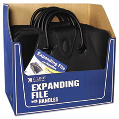 C-Line Expanding File with Handles, Letter, Polypropylene, Clear