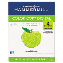 Hammermill Color Copy Paper, 100 Brightness, 28lb, 8-1/2 x 11, Photo White, 500/Ream