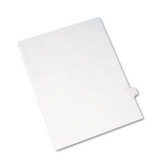 Avery Allstate-Style Legal Side Tab Divider, Title: U, Letter, White, 25/Pack
