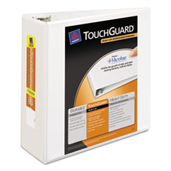 Avery Touchguard Antimicrobial View Binder with Slant Rings, 4