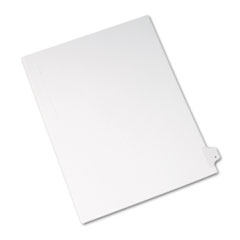 Avery Allstate-Style Legal Side Tab Divider, Title: Y, Letter, White, 25/Pack