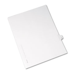 Avery Allstate-Style Legal Side Tab Divider, Title: 8, Letter, White, 25/Pack
