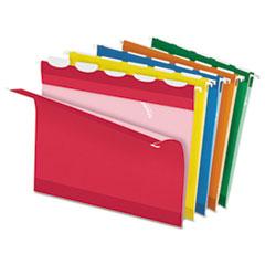 Pendaflex Ready-Tab Lift Tab Reinforced Hanging Folders, 1/5 Tab, Letter, Asst, 25/Box