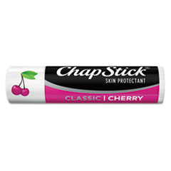 ChapStick Classic Lip Balm, Cherry, 0.15 oz Tube, 24 per Box