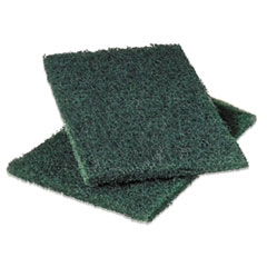 Scotch-Brite Commercial Heavy-Duty Scouring Pad, Green, 6 x 9, 12/Pack