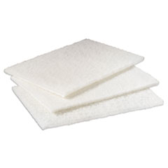 Scotch-Brite Industrial Light Duty Cleansing Pad, 6 x 9, White, 20/Pack, 3 Packs/Carton