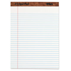 TOPS The Legal Pad Ruled Perforated Pads, 8 1/2 x 11 3/4, White, 50 Sheets, Dozen