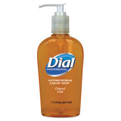 Dial Professional Liquid Gold Antimicrobial Soap, Floral Fragrance, 7.5oz Pump Bottle