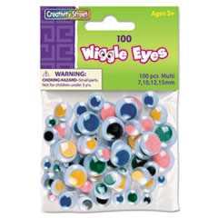 Creativity Street Wiggle Eyes Assortment, Assorted Sizes, Assorted Colors, 100/Pack