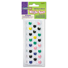 Creativity Street Peel 'N Stick Wiggle Eyes, Assorted Sizes, Assorted Colors, 125/Pack