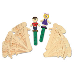 Chenille Kraft People-Shaped Wood Craft Sticks, 5 3/8