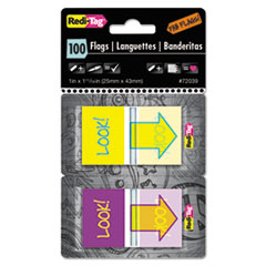 RTG 72039 Redi-Tag Fab Flags Pop-Up in Dispenser RTG72039