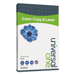 Universal One Color Copy/Laser Paper, 98 Brightness, 28lb, 11 x 17, White, 500 Sheets/Ream