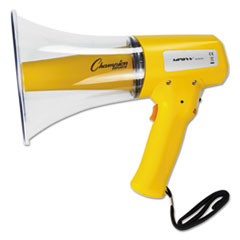 Champion Sports Megaphone, 8-12W, 800 Yard Range, White/Yellow