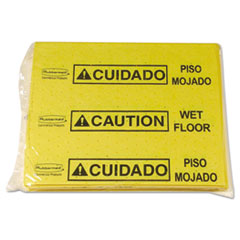 Rubbermaid® Commercial PAD SPILL MED 25PDS-BG Over-The-Spill Pad Tablet W-25 Pads, Yellow-black,14 X 16 1-2