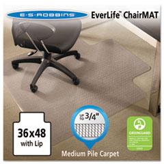 ESR 122073 ES Robbins® EverLife® All Day Support Chair Mat For Medium Pile Carpet ESR122073