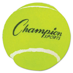 "Tennis Balls, 2 1/2"" Diameter, Rubber, Yellow, 3/pack"