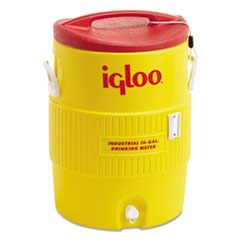 Igloo® COOLER 10 GL PLASTC YL-RD INDUSTRIAL WATER COOLER, 10 GAL, YELLOW-RED