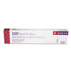 Smead Seal & View File Folder Label Protector, Clear Laminate, 8 x 1-11/16, 100/Pack