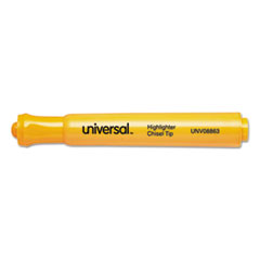Universal Desk Highlighter, Chisel Tip, Fluorescent Orange, 12/Pk