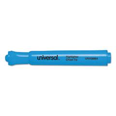 Universal Desk Highlighter, Chisel Tip, Fluorescent Blue, 12/Pk