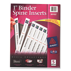 Avery Custom Binder Spine Inserts, 1