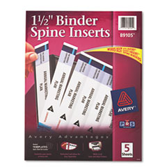 Avery Custom Binder Spine Inserts, 1-1/2