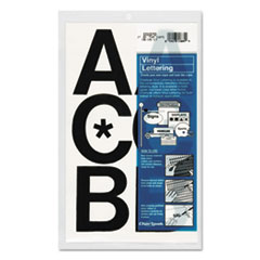 Chartpak Press-On Vinyl Uppercase Letters, Self Adhesive, Black, 3