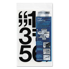 Chartpak Press-On Vinyl Numbers, Self Adhesive, Black, 3