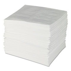"SPC® SORBENTS OIL PAD 15""X19"" Env Maxx Enhanced Oil Sorbent Pads, .24gal, 15w X 19l, White, 100-bundle"