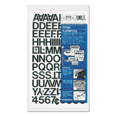 Chartpak Press-On Vinyl Letters & Numbers, Self Adhesive, Black, 3/4